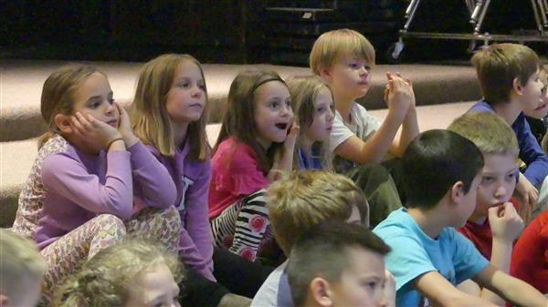 Elementary Students in Little Theater