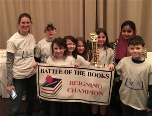 Grade 4 Battle of the Books team