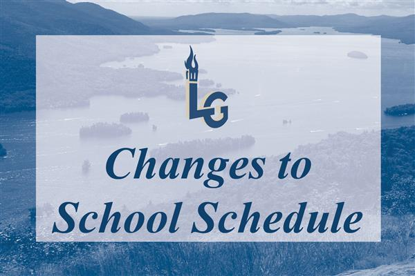 Changes to School Schedule