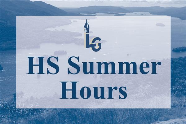 High School Summer Hours graphic