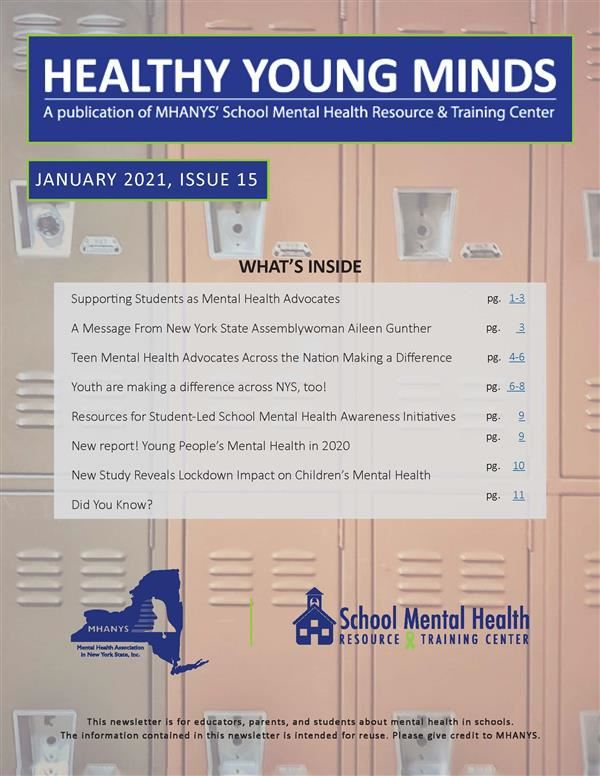 cover of MHANYS January 2021 publication