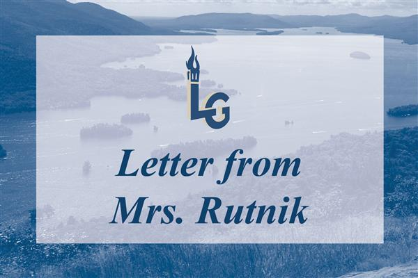 Letter from Superintendent Rutnik